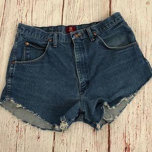 Original Wrangler cut off shorts-  vintage